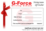 Lesson Gift Voucher - G-Force Driving School